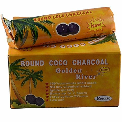 Autres - Carboncini naturali Golden River Coco, confezione da 8 rotoli