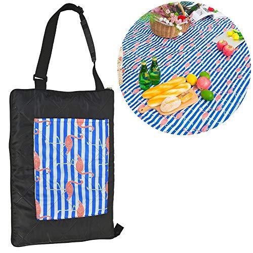 TEQStone Picknickdecke Wasserdicht Waschbar 200 X 150 XXL, Stranddecke Outdoordecke für Reisen, Camping, Picknick und Indoor (Flamingo)