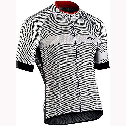TiA Maillots De Ciclismo para Hombre, Camisas De Ciclismo con 3 Bolsillos Traseros Elásticos con Banda Reflectante, para Ciclistas Y MTB Pro Racing