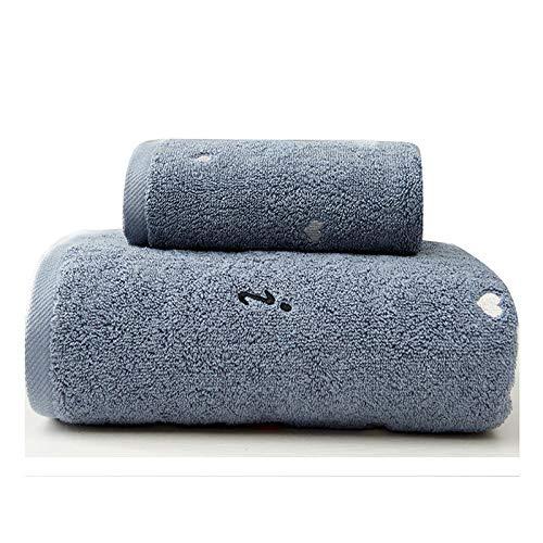 DSJDSFH Fashion eenvoudige katoenen badhanddoek set handdoek 34 * 75 cm badhanddoek 70 * 140 cm 3 kleuren