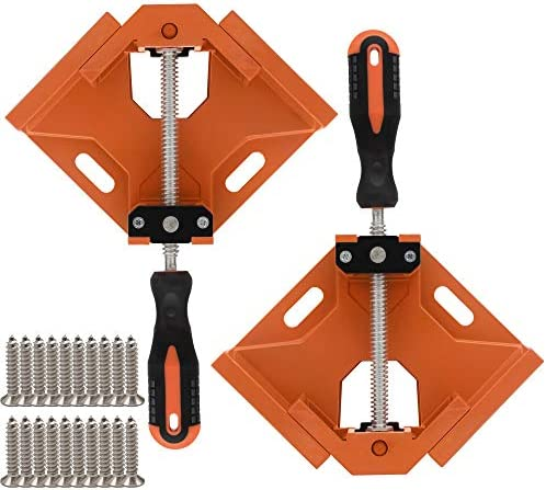 TAIWAIN 2pcs Right Angle Clamp 90 Degree Corner Clamp Vice Grip Woodworking Quick Fixture Tool product image