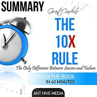 Page de couverture de Summary Grant Cardone's The 10X Rule: The Only Difference Between Success and Failure