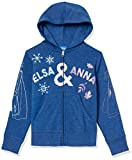 Spotted Zebra Disney Star Wars Marvel Princess Fleece Zip-up Sweatshirt Fashion-Hoodies, Frozen 2 Sisters, 6-7 Jahre