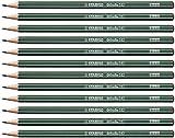 Crayon graphite - STABILO Othello - Lot de 12 crayons graphite B avec tête trempée