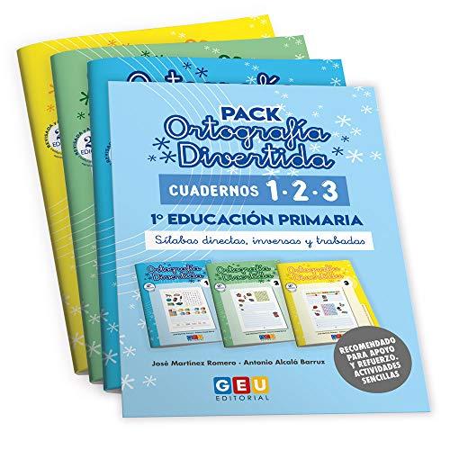 Pack Ortografía Divertida 1º primaria: Cuadernos 1, 2 y 3   Material De Refuerzo Actividades sencillas   Editorial Geu (Niños de entre 6 y 7 años)