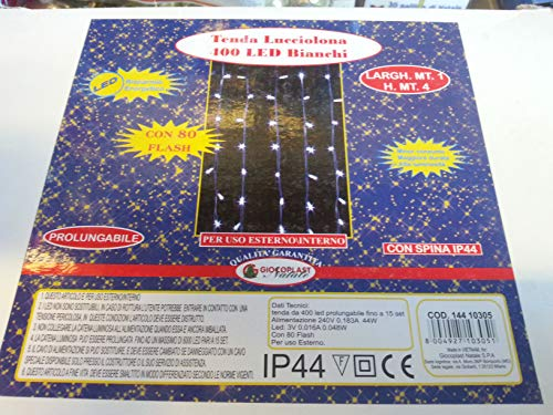 Giocoplast Natale Tegel 1000 400 Led Hot White Game 1M, Multi kleuren