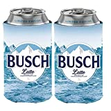 Busch Light Beer BUSCH LATTE Can Coolie Cooler - Limited Edition - 2 Pack