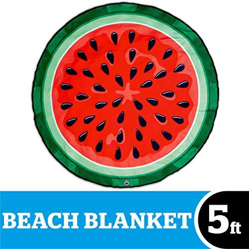 BigMouth Inc. – Anguria Cocomero Telo Mare Gigante Spiaggia - Asciugamano Coperta XXL Rotonda Bagno
