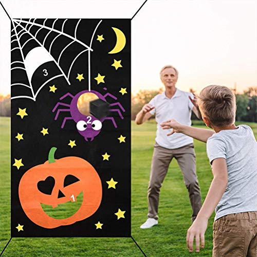 COTTILE Halloween Party Games Throw Game for Children Toy Outdoor Throwing Games for Adults Children Party Funny Prop Decorations Accessories Accessories