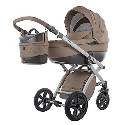 knorr-baby Cochecito de bebé combi Alive Pure marrón oscuro