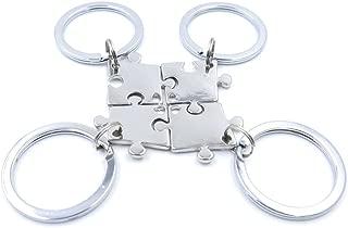 Charm.L Grace 4 Piece Best Friend Necklaces Keychains Friendship Pendant Charm Necklace Set Puzzle