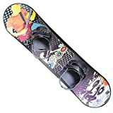 Kids Snowboard Ages 4-15 Adjustable bindings Beginner Snow Board 95 110 126 cm Solid core Construction Outdoor Snow Toy Slider Freeride Freestyle ski Board (95 cm)