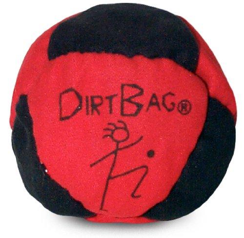 World Footbag Dirtbag Hacky Sack Footbag, Red/Black
