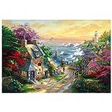Smart toy Kl Puzzle de madera 1000 piezas 500 piezas grandes juguetes divertidos regalo niñas 300 hojas primavera (color: F, tamaño: 75 x 50 cm)