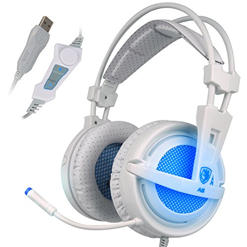 Sades A6 7.1 Surround Sonido Estéreo Pro PC Gaming Headset Auriculares con banda de...