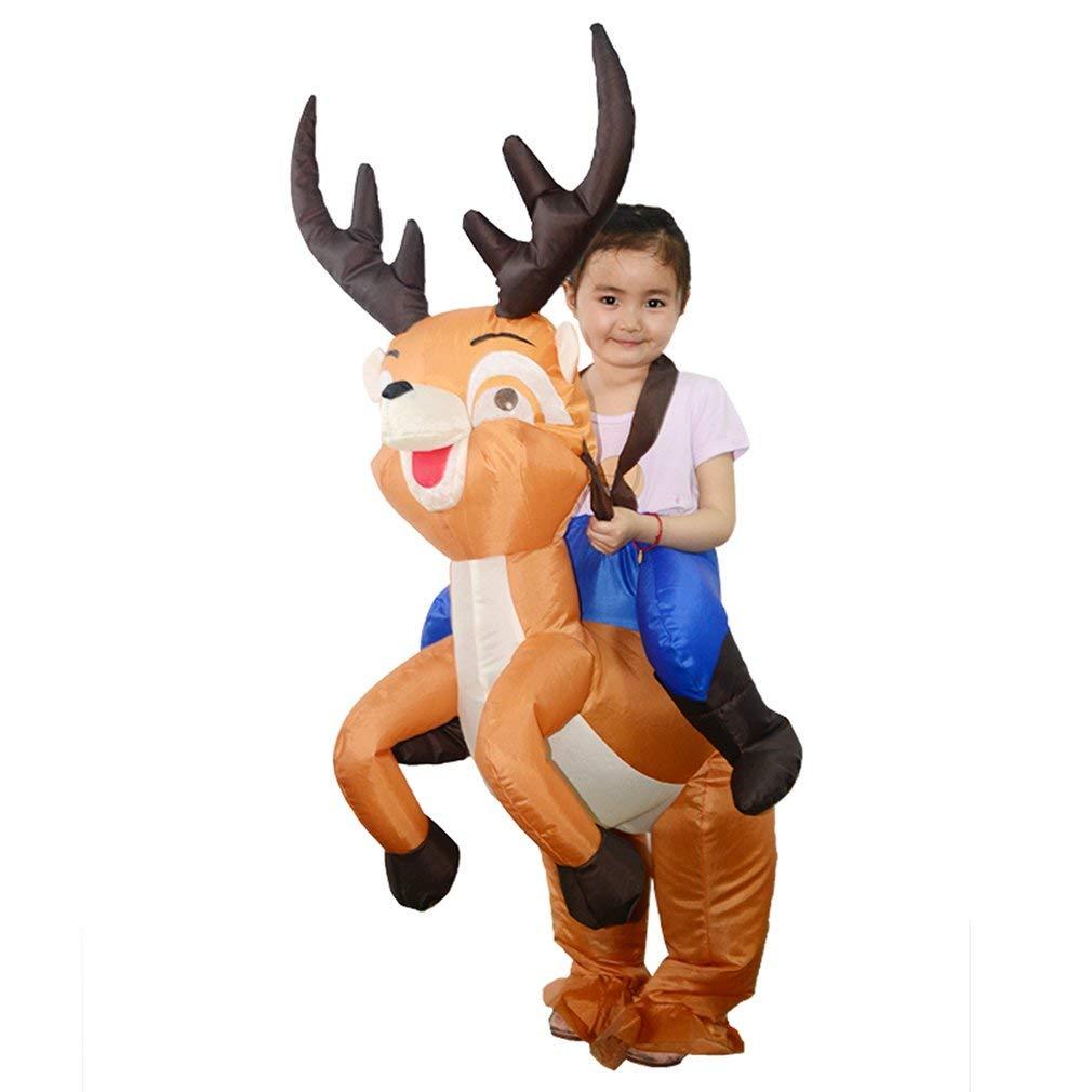 HAMSTERR - Disfraz Hinchable de Ciervo de equitación para niños ...