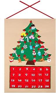 Árbol de Navidad Tela de Adviento Calendario de Navidad Calendario de Adviento de Navidad Cuenta regresiva Calendario de árbol de Navidad Calendarios de Adviento para niños Inicio Drocrationg
