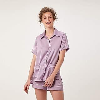 Pijama Curto Abotoamento Cetim St Tropez