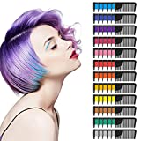 SYOSIN Hair Chalk Comb, Hair Colorations,12 Colors Temporary Hair Chalk Comb Gifts for Girls Kids Adults,6 Metallic Glitter Colors and 6 Regular Colors-for Carnival, Party,Christmas Halloween Birthday