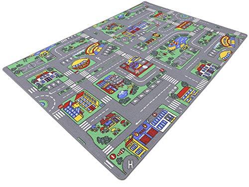 HEVO Auto Teppich Kinder Strassen Spielteppich   Kinderteppich 145x200 cm