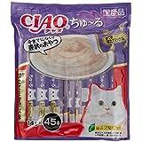 【Amazon.co.jp限定】 チャオ (CIAO) 猫用おやつ ちゅ~る かつお ほたてミックス味 14g×45本入