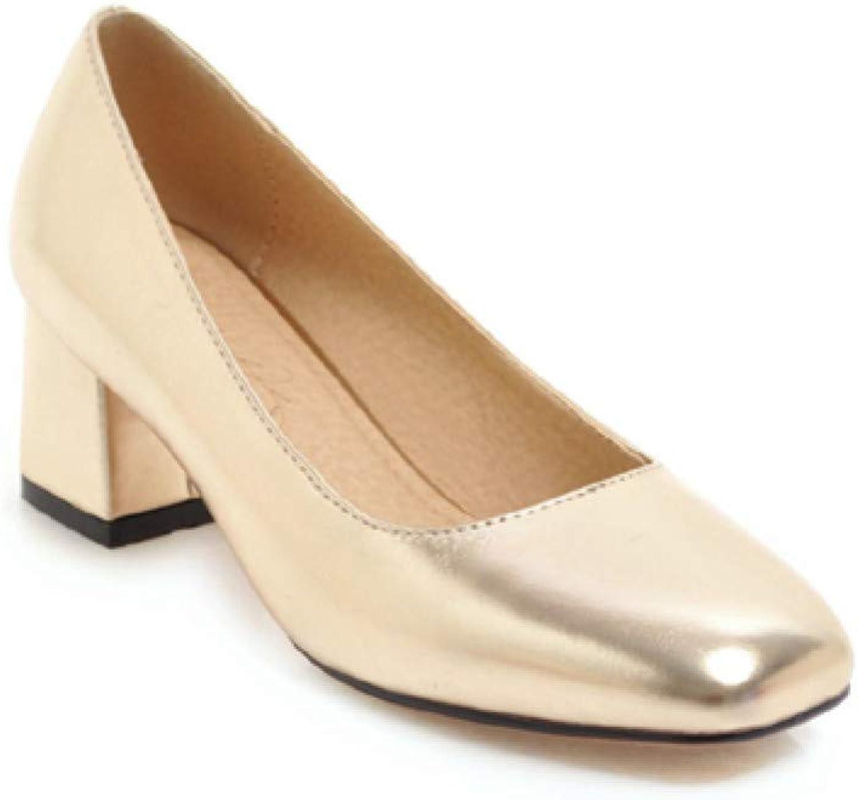 Ai Ya-liangxie Quadratische Spitze Flach High Heels Frauen Pumpen Hochzeit Schuhe Frau  | Moderne und stilvolle Mode