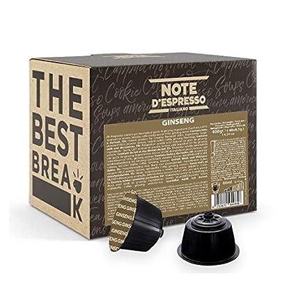 Note d'Espresso - Ginsen - Cápsulas compatibles con Cafeteras NESCAFE'* DOLCE GUSTO* - 48 caps