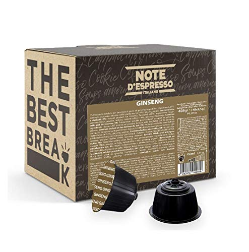Note D'Espresso - Ginseng - Capsule Compatibili Soltanto con Nescafé e Dolce Gusto* - Confezione da 48