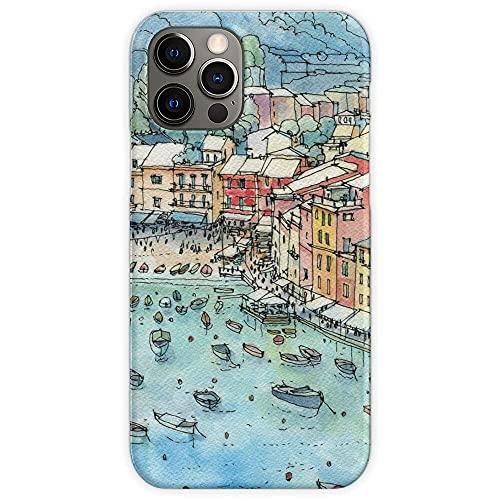 Landscape Liguria Italy Genoa Portofino Custodie per Telefoni iPhone 12/11 Pro Max 12 mini SE X/XS Max XR 8 7 6 6s Plus Custodie