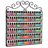 MyGift Metal Nail Polish Mountable 6 Tier Organizer Display Rack,...