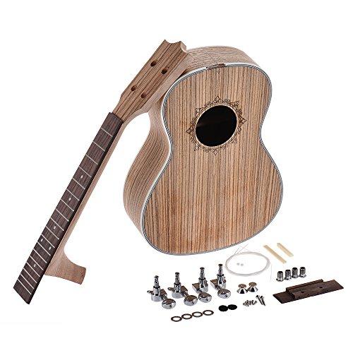 ammoon 26in Ukelele Tenor Kit de Bricolaje para Guitarra de Hawaii Cuerpo Diapasón de Palisandro con la Cadena de Clavijas Tuerca de Puente