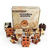 Joyeee 9 Pezzi Legno Rompicapo Torsione Cube Puzzle Game 3D - Gioco di Mente Cubo #2...