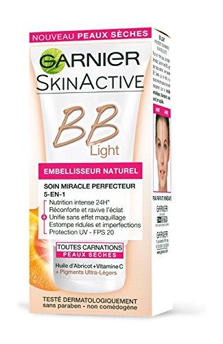 Garnier - Skin Active - BB Crème 5 en 1 Spécial Light Embellisseur Peaux Sèches Naturel 50 ml