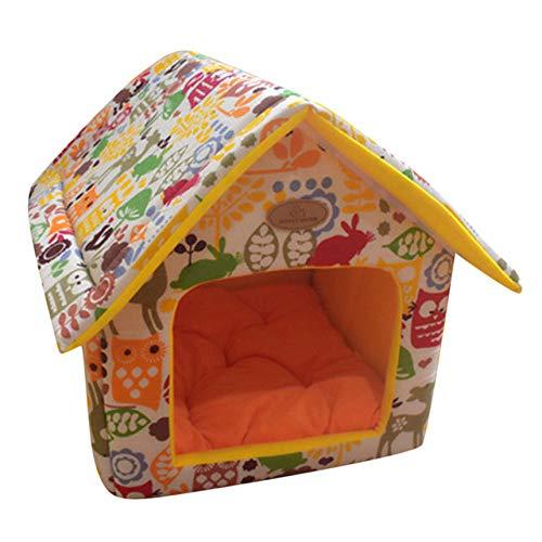 Kennel LKU Zacht, warm hondenhok voor thuis, binnen en buiten, verwijderbaar, klein hondenhok, D, 35X30 cm
