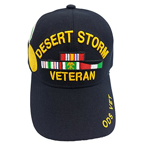 US Military Desert Storm Veteran Officially Licensed (Ods Vet) Black Hat Cap