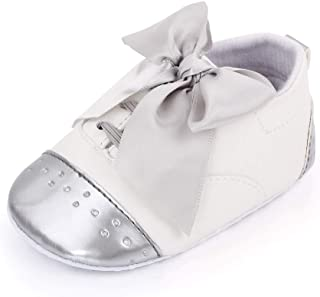Baby Toddler Girls Soft Sole T-Strap Mary Jane Moccasinss for Infant Prewalkers Bowknot Party Wedding Dress Shoes