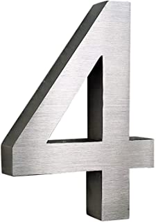 7 7 Hausnummer 3D Edelstahl V2A diamant anthrazit H/öhe 25 cm Arial XXL Gr/ö/ße wetterfest rostfrei V2A im Shop 0 1 2 3 4 5 6 7 8 9 a b c