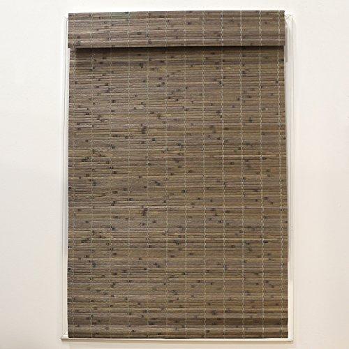 "Radiance Cordless Bamboo Roman Shade, 46"" x 64"", Driftwood"