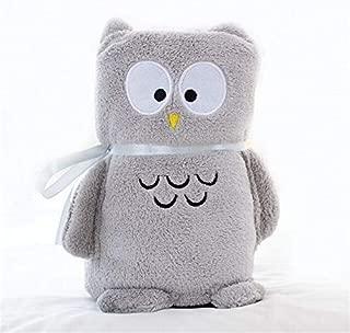 XFOFABD Kid Toddler Swaddle Lovely Cartoon Animal Coral Fleece Baby Blanket Soft Bedding Infant Quilt Children Home Sleeping Bag(owl)
