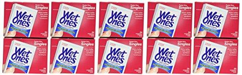 Wet Ones Antibacterial Hand Wipes Singles, (Pack of 24 X 10)