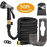 Liwiner 50 FT Expandable Garden Water Hose Pipe/Magic Expanding Flexible Hose with Brass