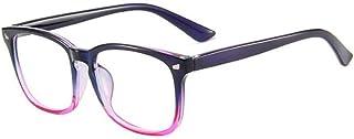 D&Y Blue Light Blocking beeldschermbril Plein Nerd brillen frame Strain Anti Eye Hoofdpijn Computer leesbril -7,29 (Frame ...