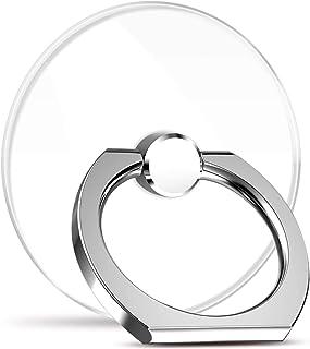 【2個入り】V&C 透明 薄型 スマホ リング ホールドリング スタンド機能 落下防止 バンカーリング 360回転 iPhone/Android各機種対応 (シルバー) …