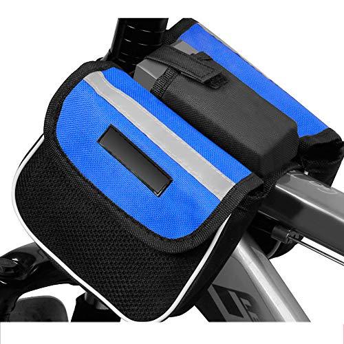 Bolsa para cuadro de bicicleta Bolsa impermeable para soporte de teléfono,para bicicleta de carretera de montaña,bolsa para teléfono de bicicleta para teléfonos inteligentes de menos de 6.5 pulgadas