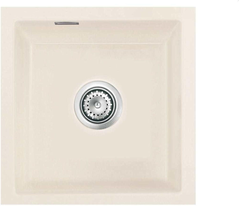 Systemceram Mera 40 U Jasmin Keramik-Spüle Excenterbettigung Creme matt Spüle