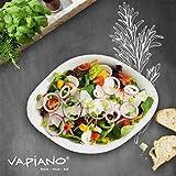 Villeroy & Boch - Vapiano Schalen-Trio, 6 tlg., ideal für das Dinner zu zweit, Premium Porzellan, spülmaschinen-, mikrowellengeeignet, Weiß - 4