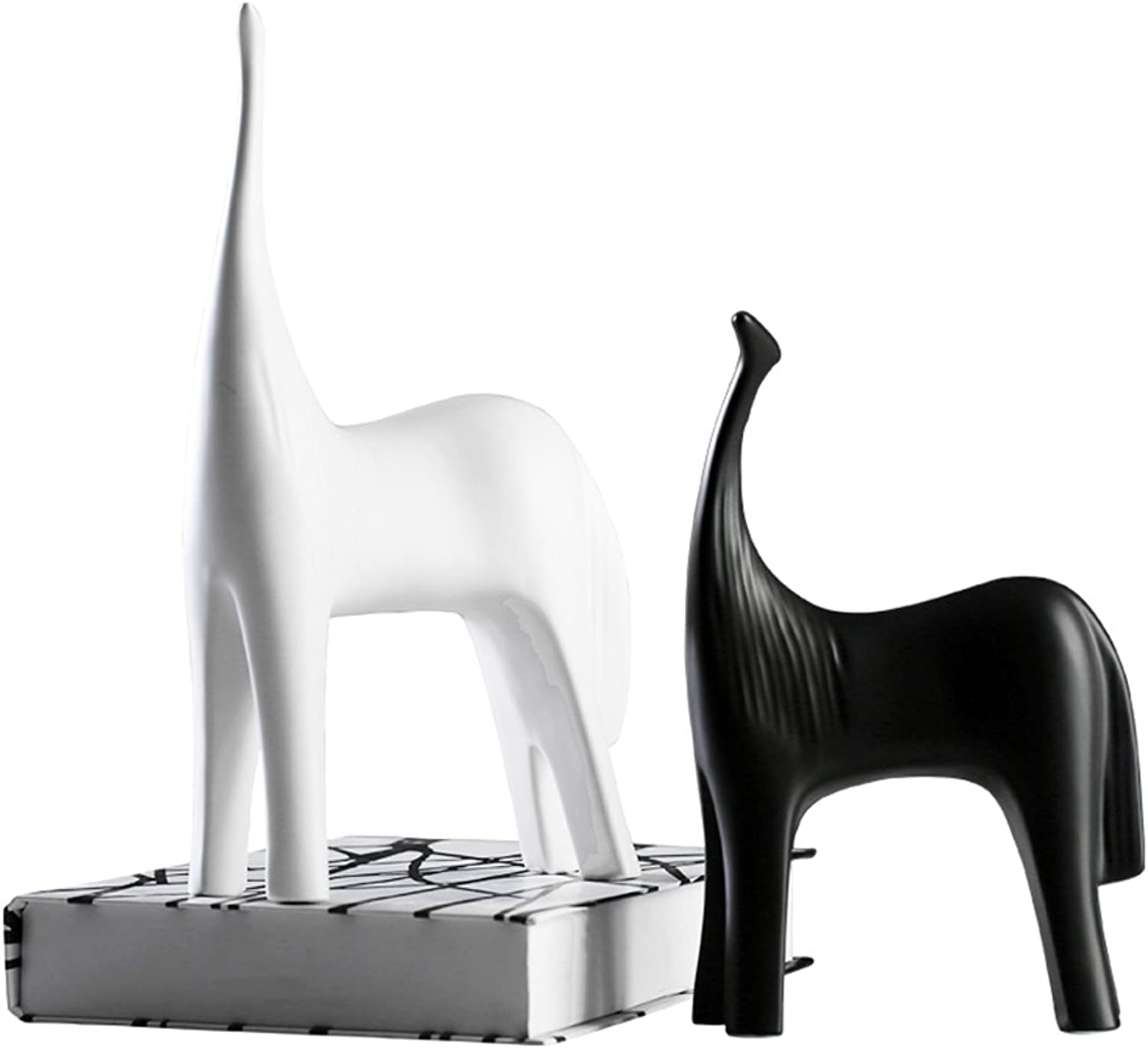 Creative Black and white series abstract horse Home decorations Wine cabinet indoor living room coffee table TV cabinet office desk Wedding Gifts
