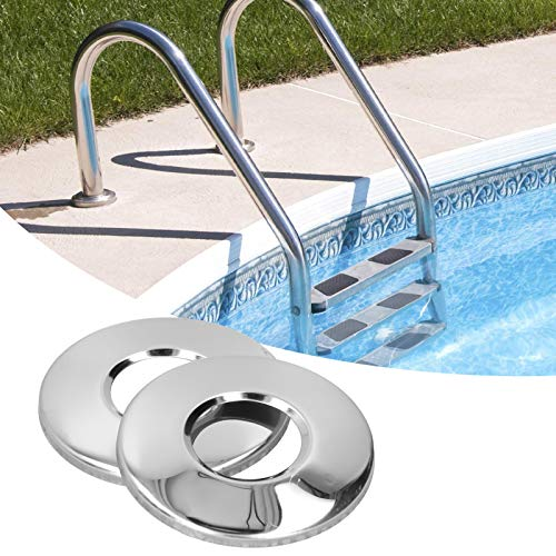 banapo Edelstahl-Abdeckplatte, Pool-Handlaufplatte, Pool-Leiterplatte, für Schwimmbadleiter Schwimmbad-Verschleißfestigkeit Langlebig
