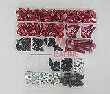 LoveMoto Juegos completos de Tornillos y Tuercas de carenado para CBR 1000 RR 12 13 14 CBR 1000 RR 2012 2013 2014 Clips de fijación y Tornillos de Aluminio Rojo Plata
