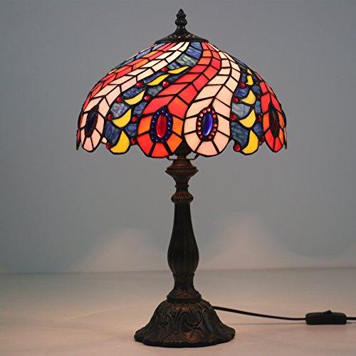 'Pavo real cola 12Tiffany lámpara